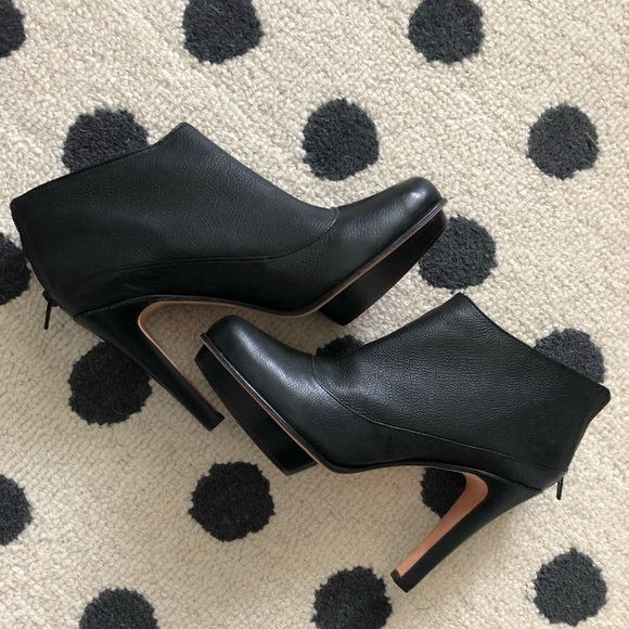 d866f16bc7f BCBGMaxAzria Black Leather Bianca Ankle Booties